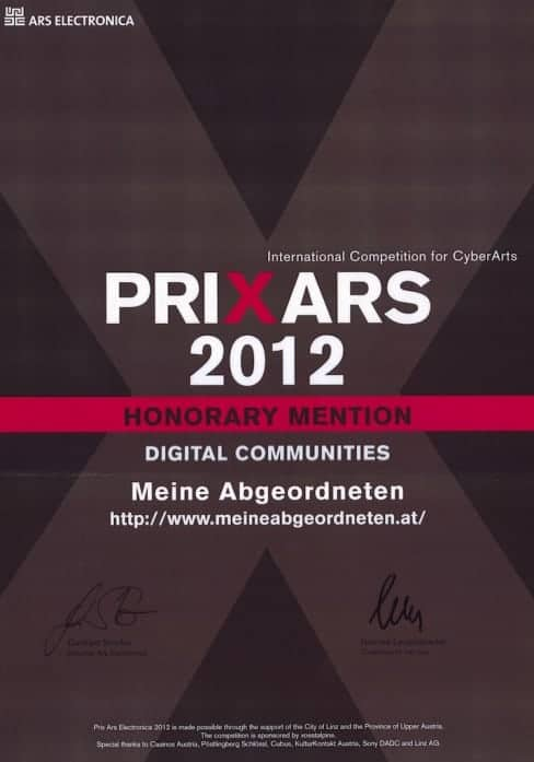 Prix Ars Electronica - Honorary Mention - Digital Communities